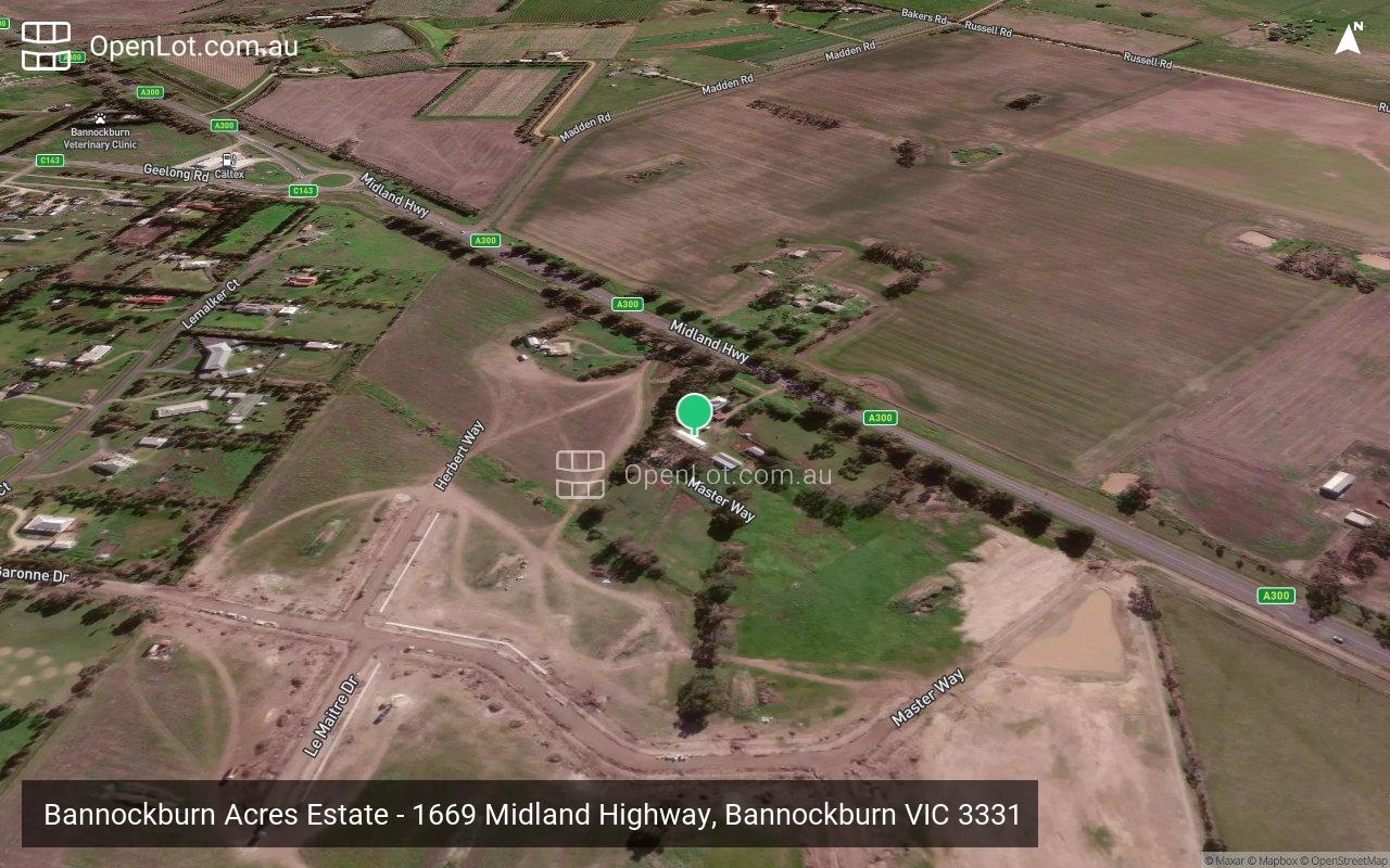 Satellite image for Bannockburn Acres Estate - 1669 Midland Highway, Bannockburn VIC 3331
